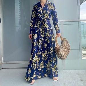 Vintage Maxi Pleated  Floral Dress